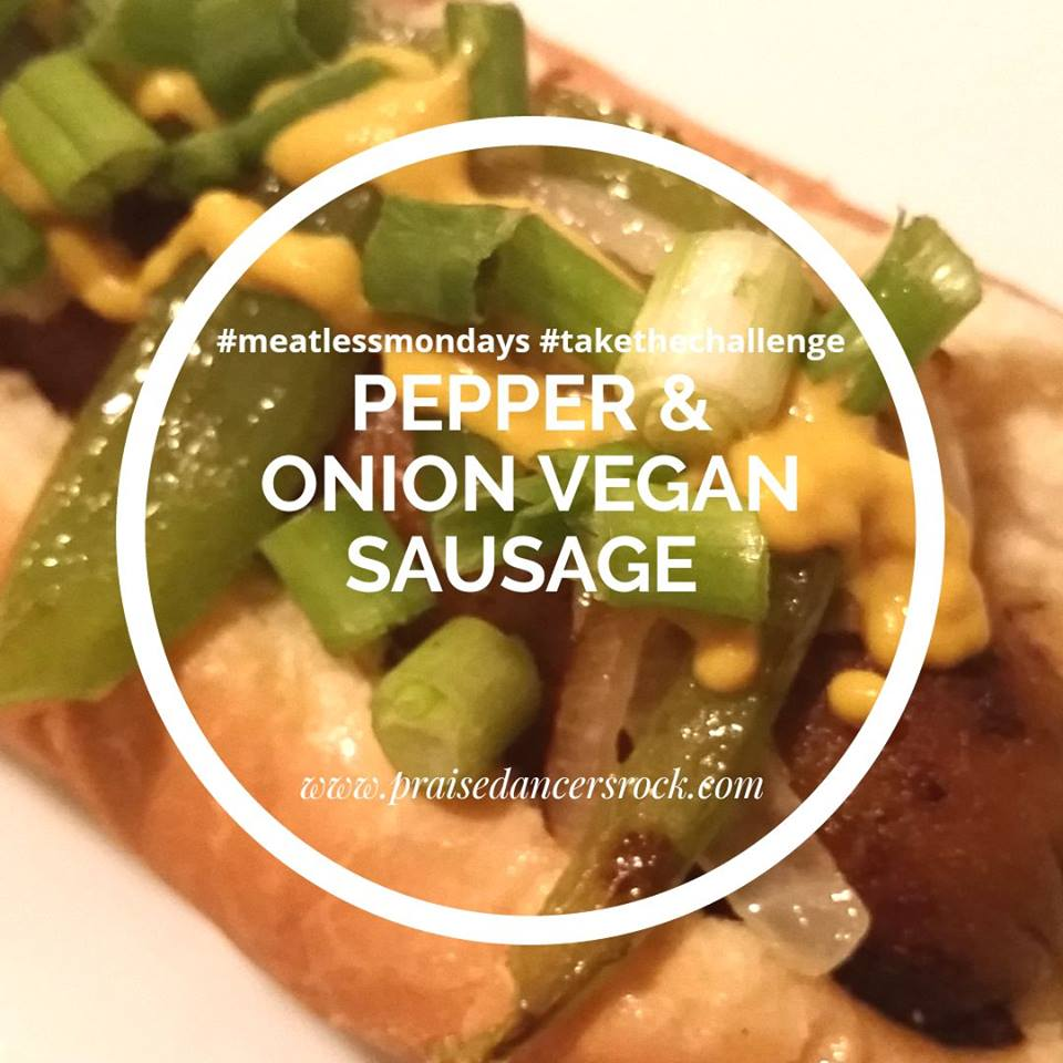 vegan pepper and onion